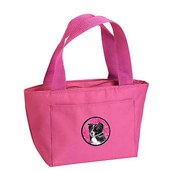 Carolines Treasures  SC9138PK-8808 Pink Border Collie Lunch Bag or Doggie Bag SC