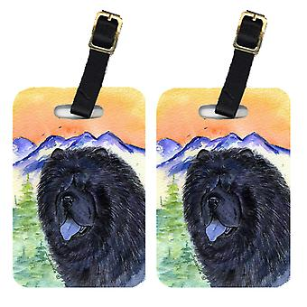 Carolines Treasures  SS8191BT Pair of 2 Chow Chow Luggage Tags