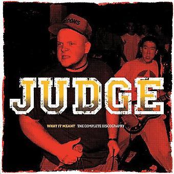 Dommer - hvad det betød: Den komplette diskografi [Vinyl] USA import