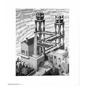Waterfall Poster Print by MC Escher (22 x 26)