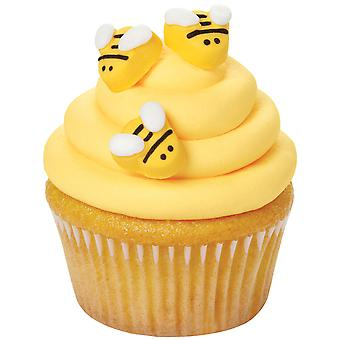 Royal Icing Decorations 18/Pkg-Bumblebees W7102916