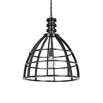 Light and Living Country Round Pendant Lamp Black - Gwen