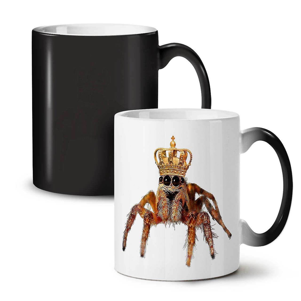 King Tasse Nouvelle Noire Céramique Changeant Café Spider Thé 11 OzWellcoda Couleur O8nPk0w