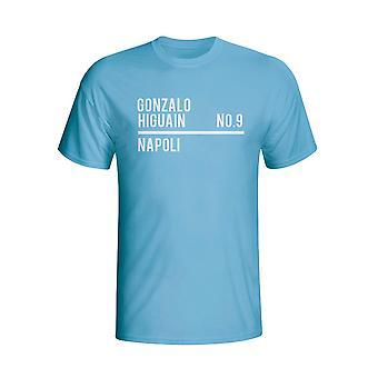 Gonzalo Higuain Napoli esquadrão t-shirt (céu)