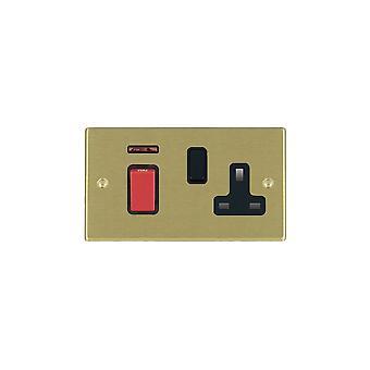Hamilton Litestat Hartland Satin Brass 45DP + Neon+SS1 BL/Red/BL
