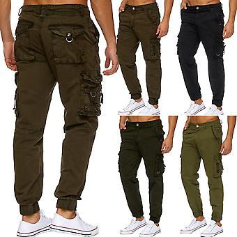Men's cargo work pants vintage U.S. Ranger field trousers work bags buttons TOP