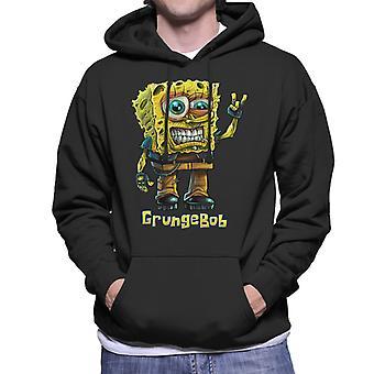 Spongebob Parody Grungebob Men's Hooded Sweatshirt