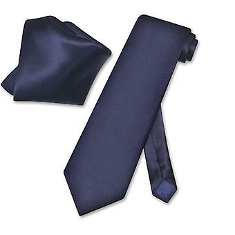 Biagio Solid 100 % Seide Krawatte & Taschentuch Männer Hals Krawatte Set