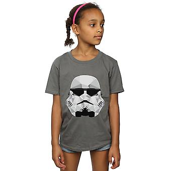 Star Wars Girls Stormtrooper Geometric Helmet T-Shirt