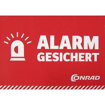 Warning label Alarm secured Languages German (W x H) 70 mm x 49