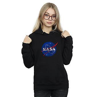 NASA Women's Classic Insignia Logo Distressed Hoodie