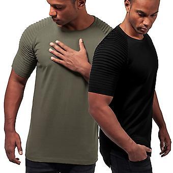 Urban classics - PLEAT Raglan shirt long