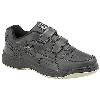 Mens Coated Action Leather Fuller Fitting Touch Fastening Trainers Shoes