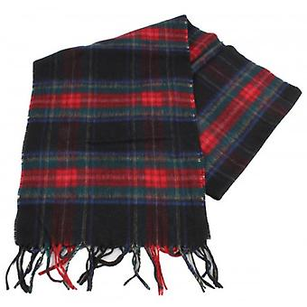 Bassin and Brown Shaw Tartan Cashmere Scarf - Navy/Red/Green