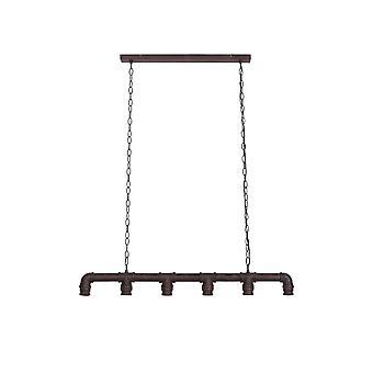 Light & Living Hanging Lamp 6L 85x8x17,5 Cm REINALDA Antique Brown