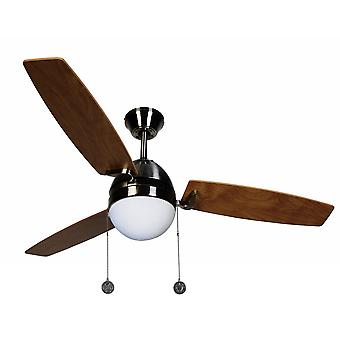 Loft Fan Boreas Chrome børstet 122 cm/48