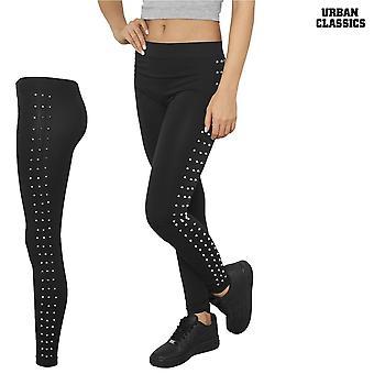Mesdames urbaines classiques de leggings rivets latéraux