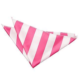 Hot Pink / weiß gestreift Einstecktuch