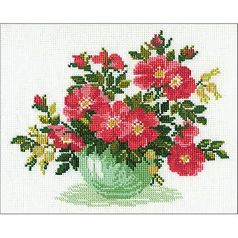 Wild Roses Counted Cross Stitch Kit-12
