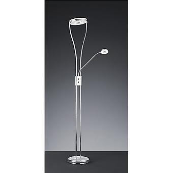 Trio Lighting Rennes Modern Chrome Metal Floor Lamp