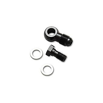 Vibrant Performance 11502 Male Banjo Fitting Size: -3AN x 10mm-1.0 Metric Aluminum Incl. 2 Washers Anodized Black Male B