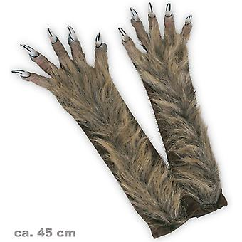 Werewolf gloves long claws hairy Halloween Monster