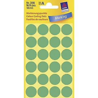 Avery-Zweckform 3006 Labels Ø 18 mm Paper Green