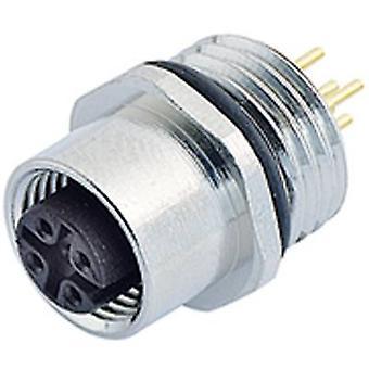 Binder 09-3432-88-04 M12 Sensor / Actuator Connector, Screw Closure, Straight