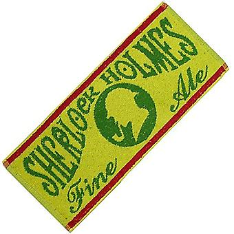 Sherlock Holmes Traditional Ale Cotton Bar Towel (Yellow) 500Mm X 225Mm