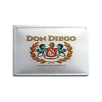 Don Diego Dominican Republic Cigars Embossed Steel Sign 300Mm X 200Mm