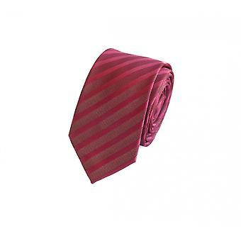 Cravate cravate cou lie Binder rouge 6cm rayé uni Fabio Farini