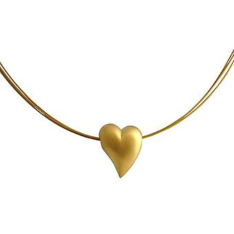 Gold plated Heart Necklace pendant heart heart silver necklace