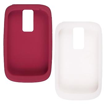 OEM BlackBerry Bold 9000 Gel Skin Case - (Red & White)