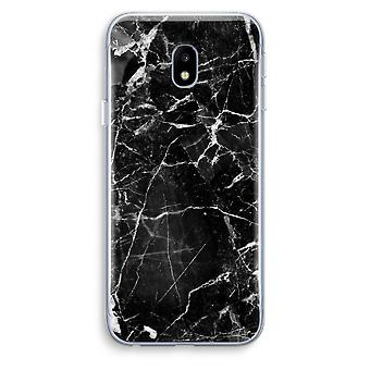 Samsung Galaxy J3 (2017) Transparent Case (Soft) - Black Marble 2