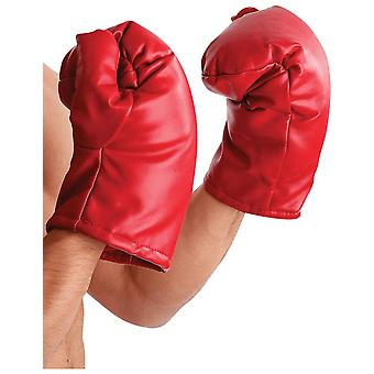 Adult Boxing Gloves Sport USA Fancy Dress Costume Accessory