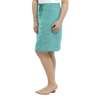 レディース トム フランク 2 つのトーン マール色手入れが簡単なリネンの夏スカート