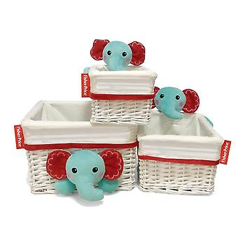 Wicker basket Large elephant toy store