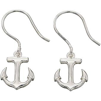 Beginnings Anchor Drop Earrings - Silver