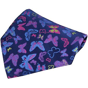 Posh og Dandy sommerfugle silke Pocket Square - Navy