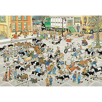 Jan Van Haasteren Rinder Markt Jigsaw Puzzle (2000 Stück)