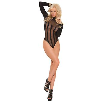 Elegant Moments Women's Sexy Bodysuit in Sheer Classy Curve Enhancer