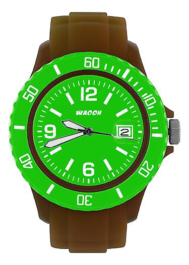 Waooh - Watch Brown Dial & Bezel MONACO38 Color