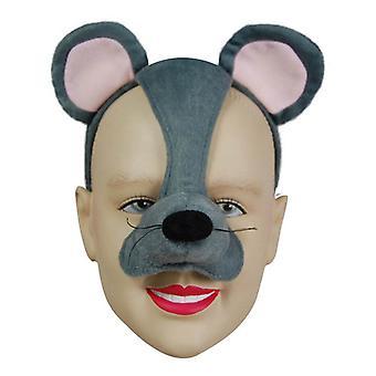 Máscara de ratón en diadema y sonido.