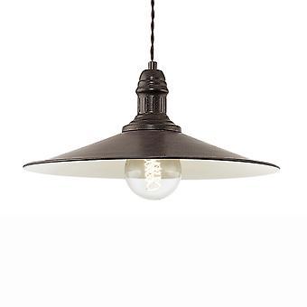 Eglo Stockbury grote hanger licht In antiek bruin en crème