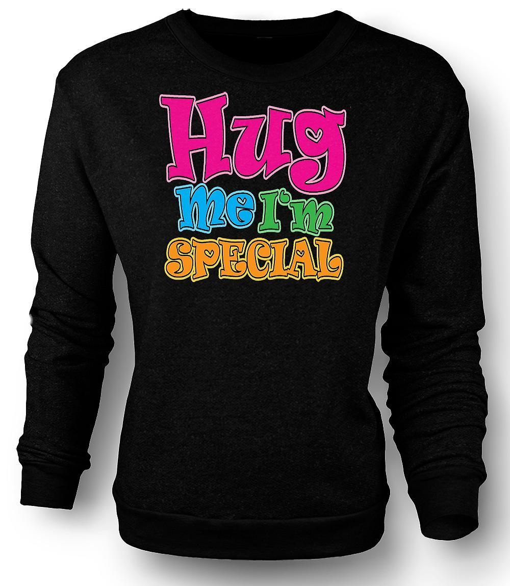 Mens Sweatshirt Hug Me I'm Special - Funny