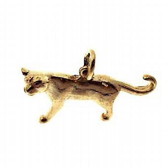 9ct Gold 20x30mm solida Mountain Lion ciondolo o fascino
