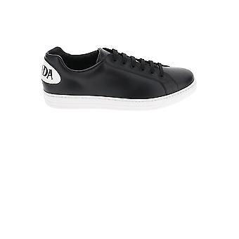 Prada Black Leather Sneakers