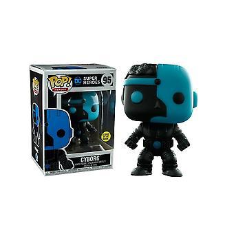DC Comics Cyborg Silhouette GÎTA exclusif Pop! Vinyle