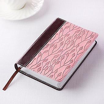KJV Pocket LL Brown/Pink Leaf Design - 9781432117443 Book