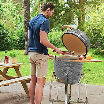 Nova - Kamado BBQ - Ceramic Egg-Shaped Outdoor Charcoal Barbecue Grill